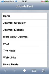 Mobile Joomla iPhone