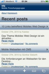 Wordpress Mobile Pack iPhone