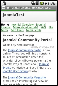 Mobile Joomla Android