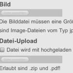 iPhone Datei-Upload