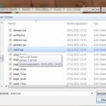 Lua Projektfiles und Buchseiten