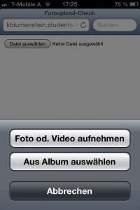 Fotoupload im Mobile Safari (iOS6)