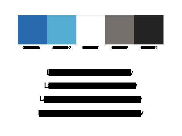 Verwendete Farben und Schriften