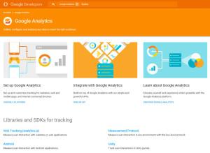 Google Analytics API Startseite