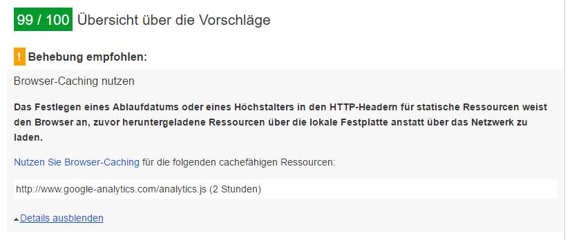 Google Analytics Caching