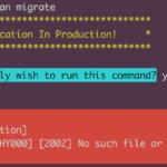 Setup script database error