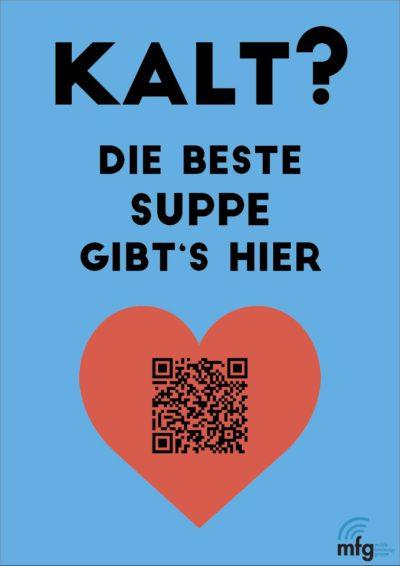 """Plakat für die Suppenküche """"Supperiör"""""""