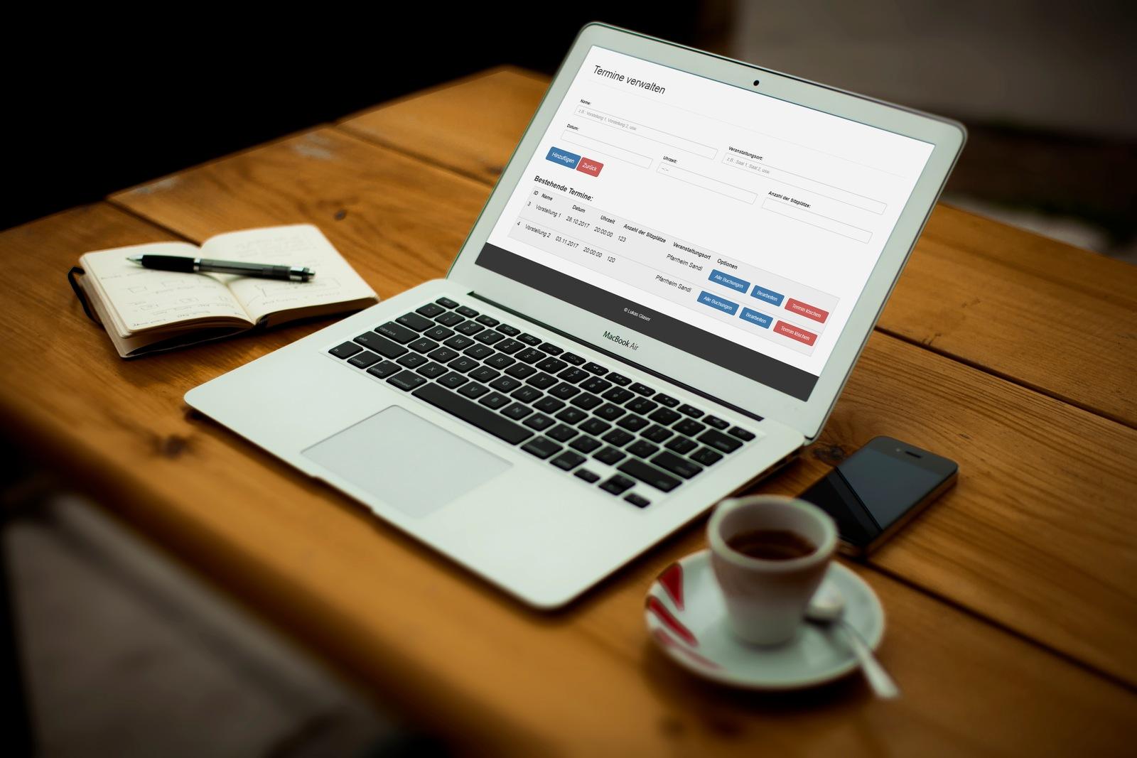 Ticketverkauf - Terminverwaltung im Adminpanel