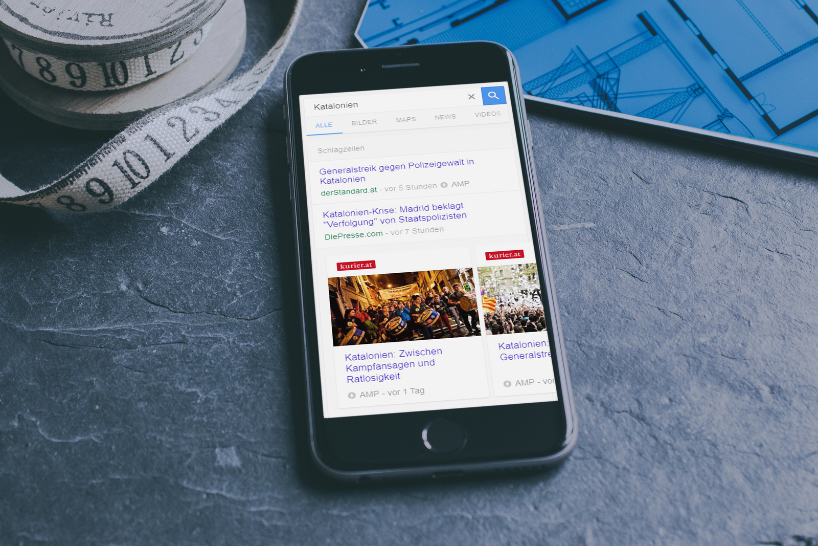 Google AMP - Suchergebnis